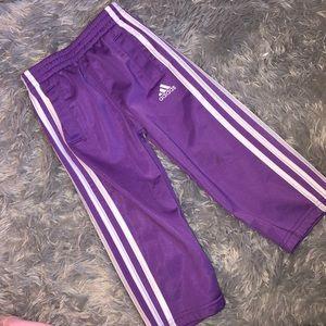 Adidas Girls Purple Sweatpants